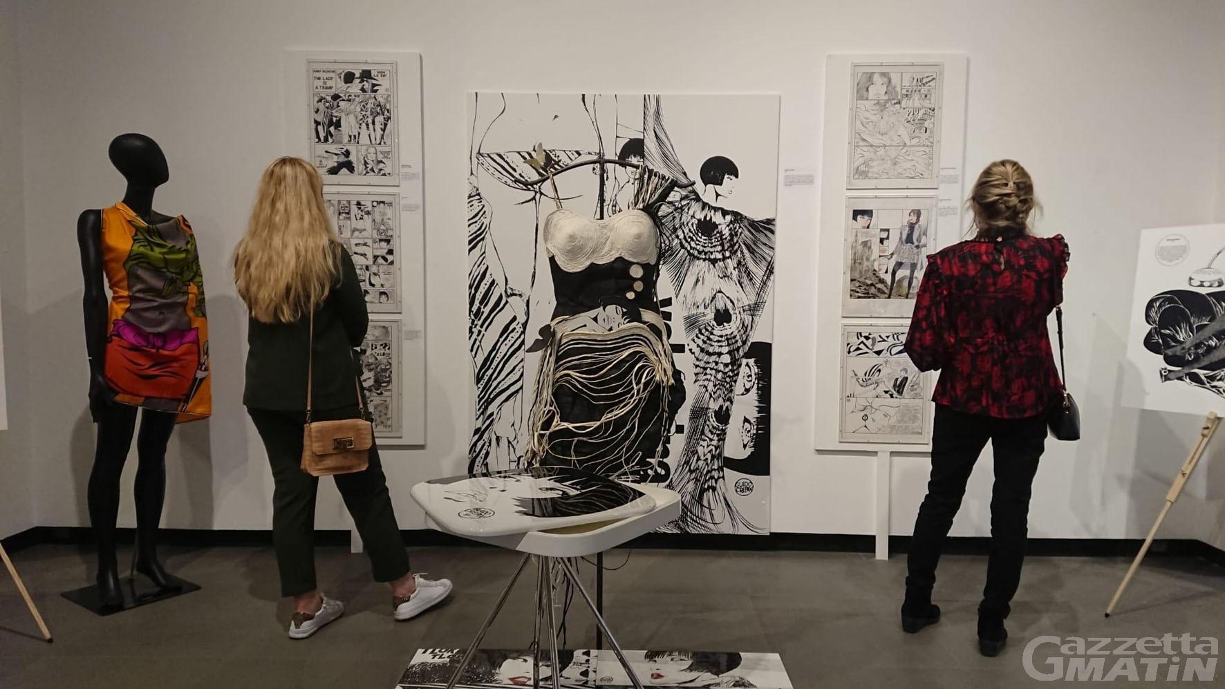 Esposizione: Crepax e Valentina in mostra al Saint-Benin di Aosta