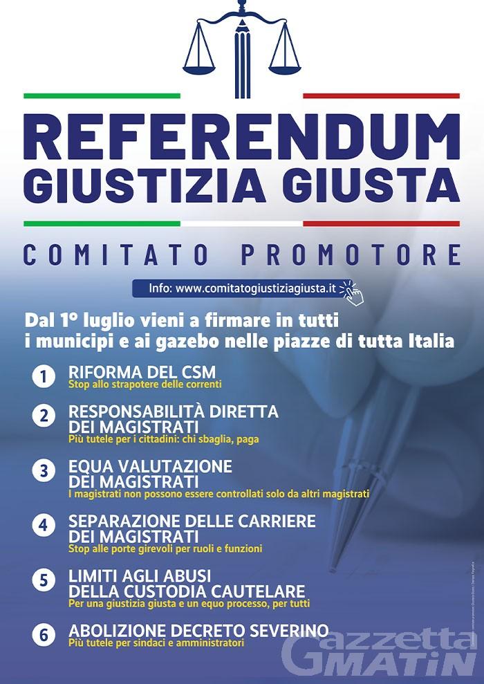 Nasce in Valle d'Aosta il Comitato Giustizia Giusta per la campagna referendaria