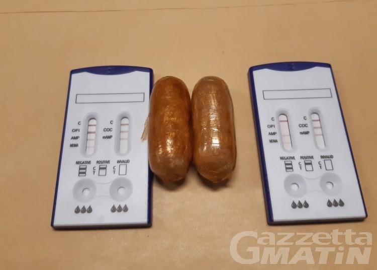 Droga: fermato al Traforo del Grande con 30 grammi di eroina, denunciato