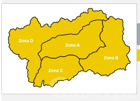 Forti temporali in arrivo, allerta gialla in Valle d'Aosta