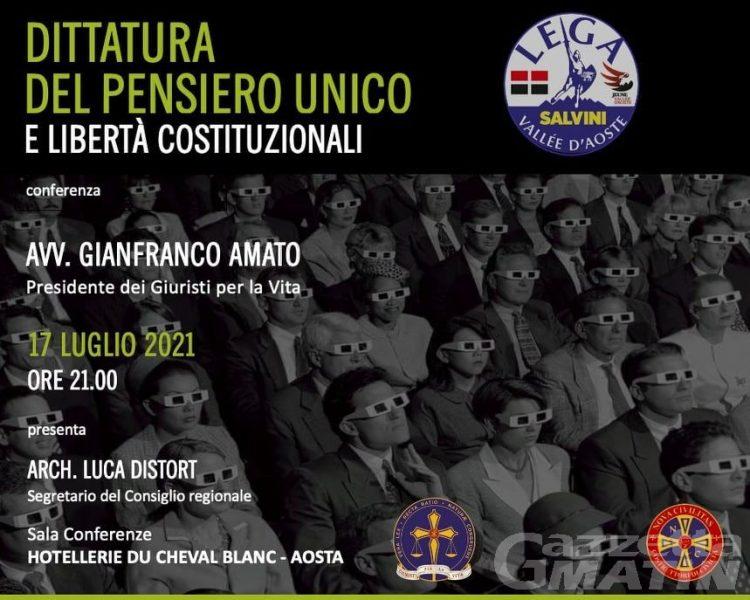Libertà di espressione e costituzionali,  la Lega organizza due incontri ad Aosta