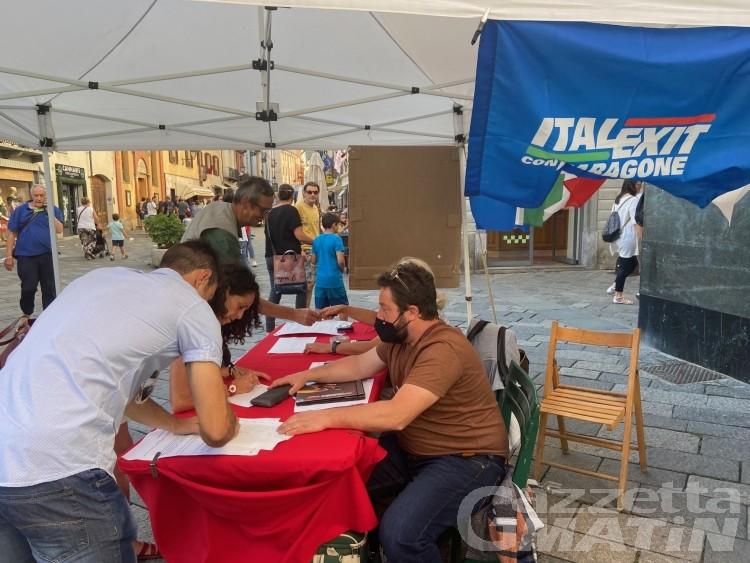 Italexit per l'Italia, oltre 750 firme per dire NO al green pass