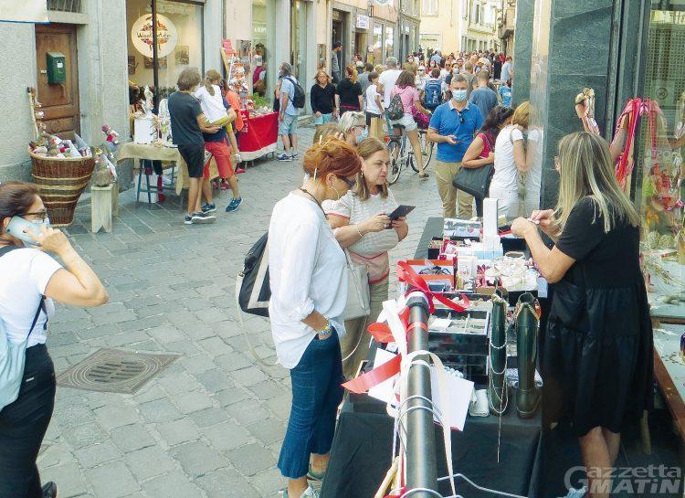 Commercio: numeri incoraggianti per 'Aosta in festa con Commercianti in festa'