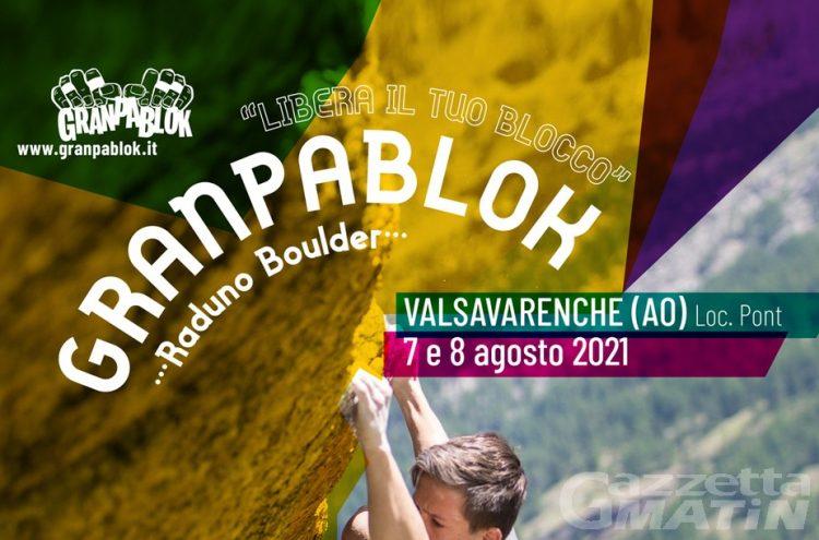 A Valsavarenche boulder a raduno per  Granpablok-Libera il tuo blocco