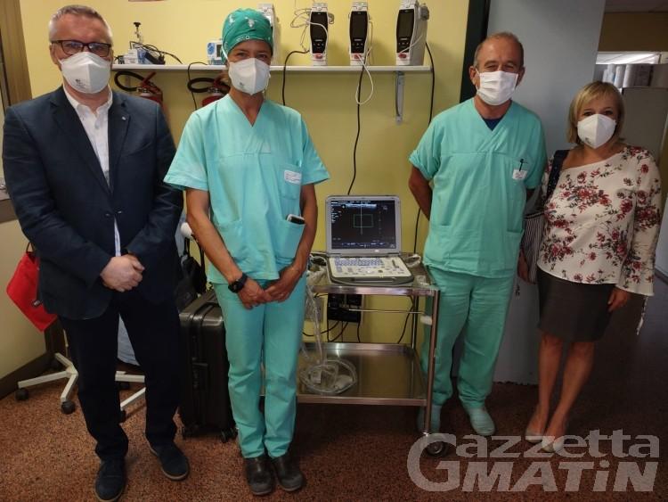 Sanità: Confartigianato VdA dona un ecografo al reparto Malattie Infettive