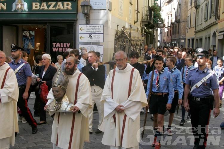 Aosta: martedì 7 settembre torna la processione per il patrono San Grato