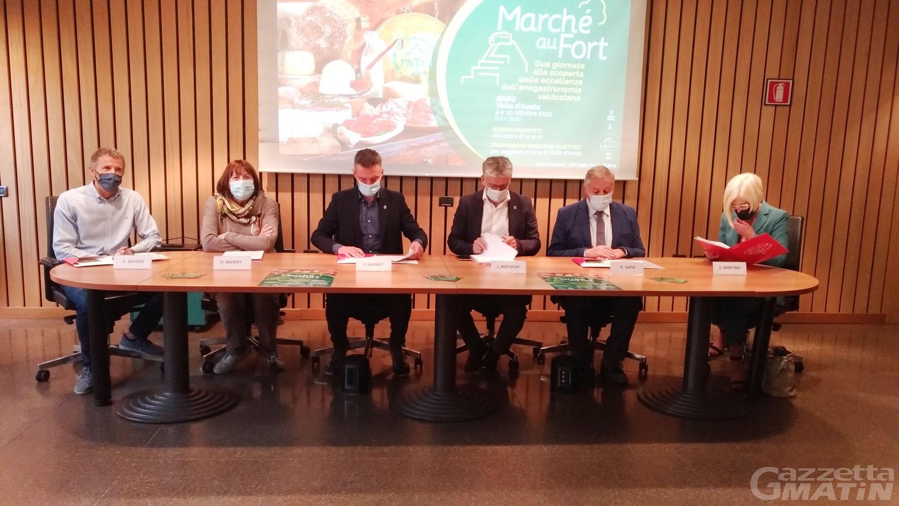 Enogastronomia, Bard: per Marché au Fort 65 aziende allestiranno i loro banchetti