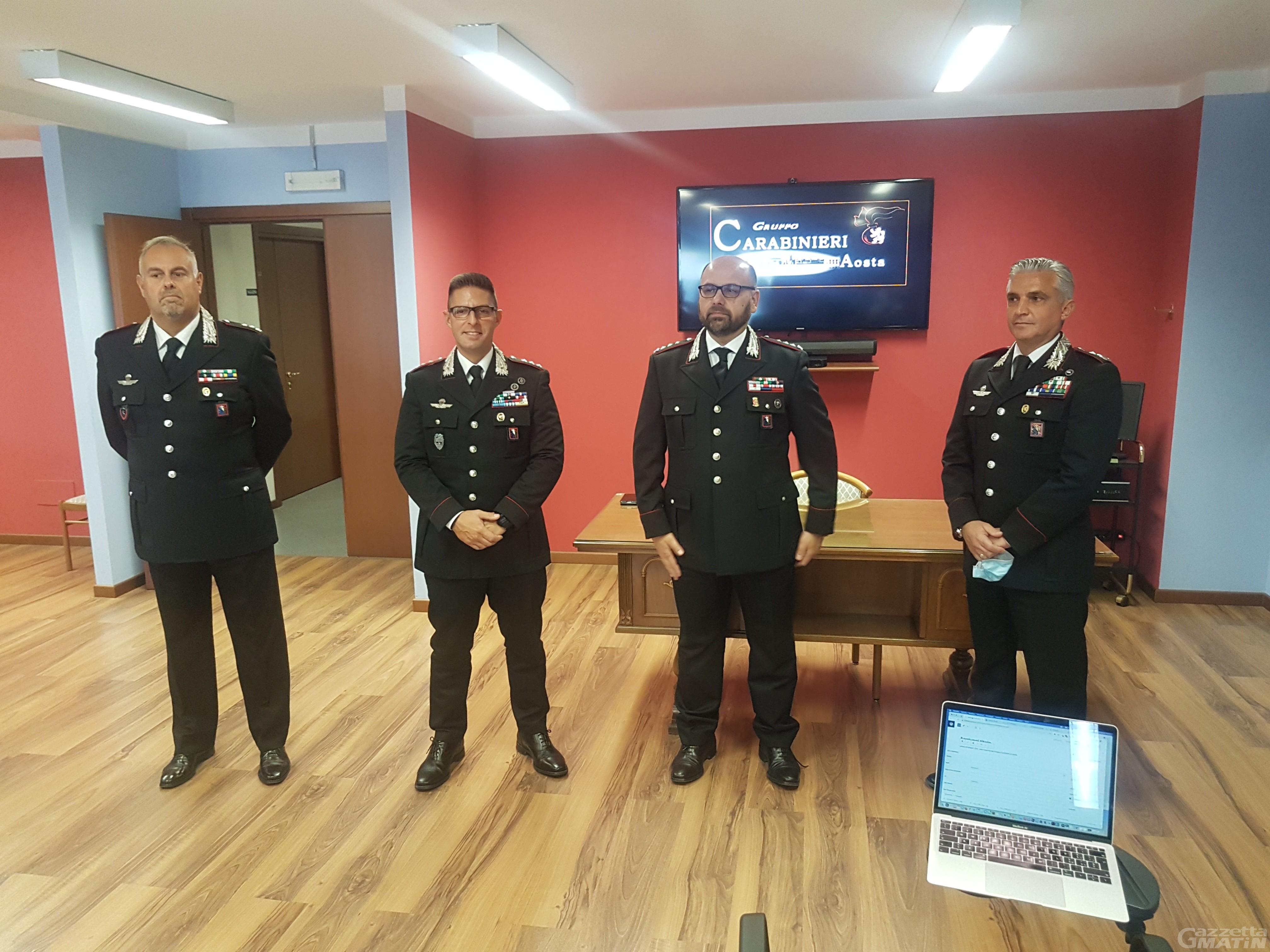 Carabinieri Valle d'Aosta: Tommaso Gioffreda comandante Reparto operativo