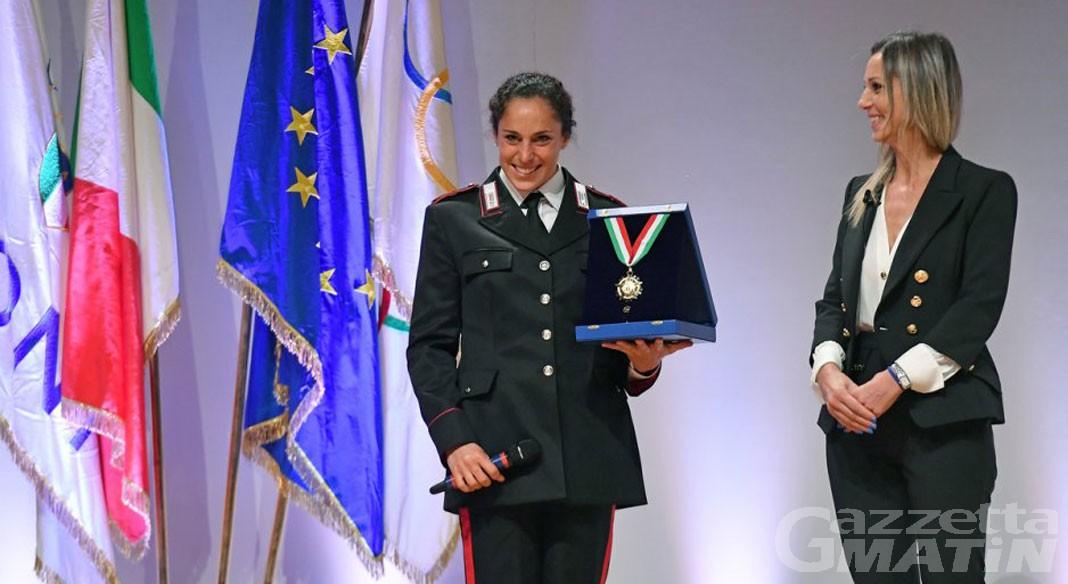 Sport invernali: Federica Brignone ha ricevuto il Collare d'Oro del Coni