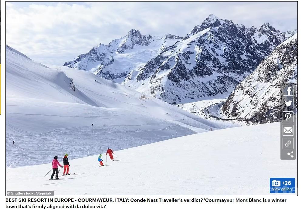 Courmayeur miglior Best Ski Resort 2021 d'Europa