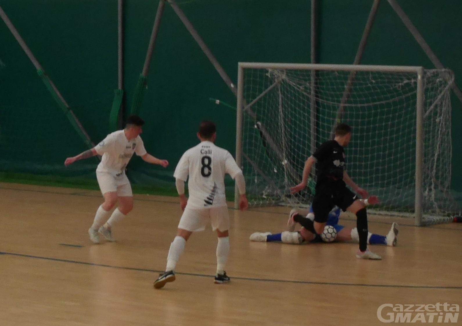 Futsal: falsa partenza dell'Aosta Calcio 511, il 360GG vince 6-0