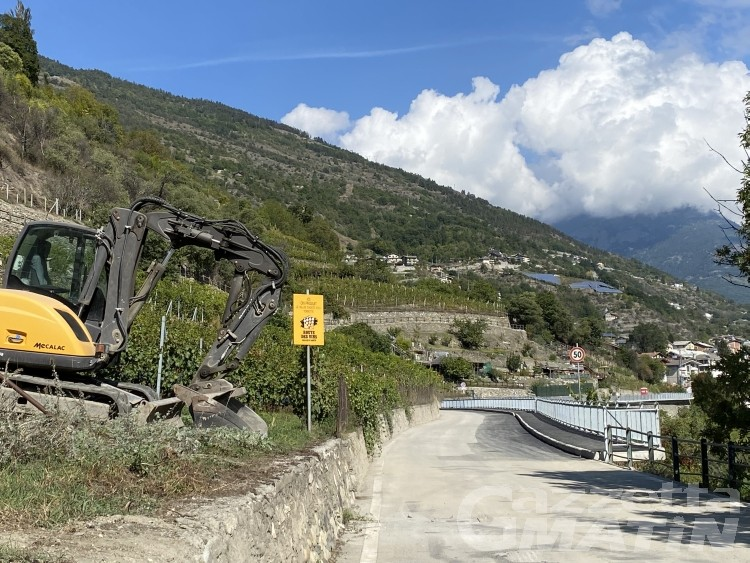 Sarre, riapre oggi la strada panoramica di Chemin du Ru de la Doire