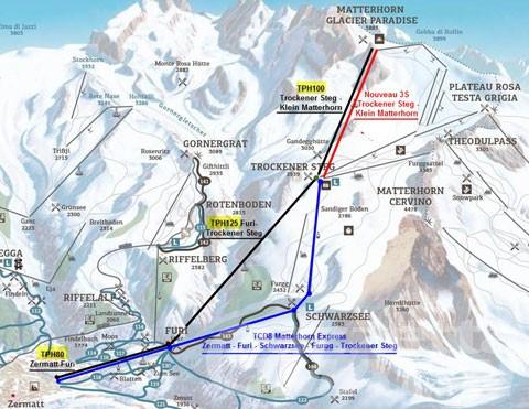 Breuil Cervinia: slitta al settembre 2022 l'inaugurazione della funivia tra Piccolo Cervino e Testa Grigia