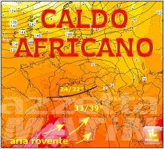 Meteo: arriva caldo anomalo africano, come nel 2003