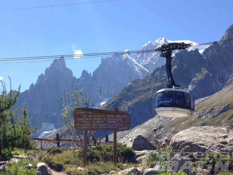 """Ambiente: SkyWay Monte Bianco vuole essere green e lancia """"Save the Glacier"""""""