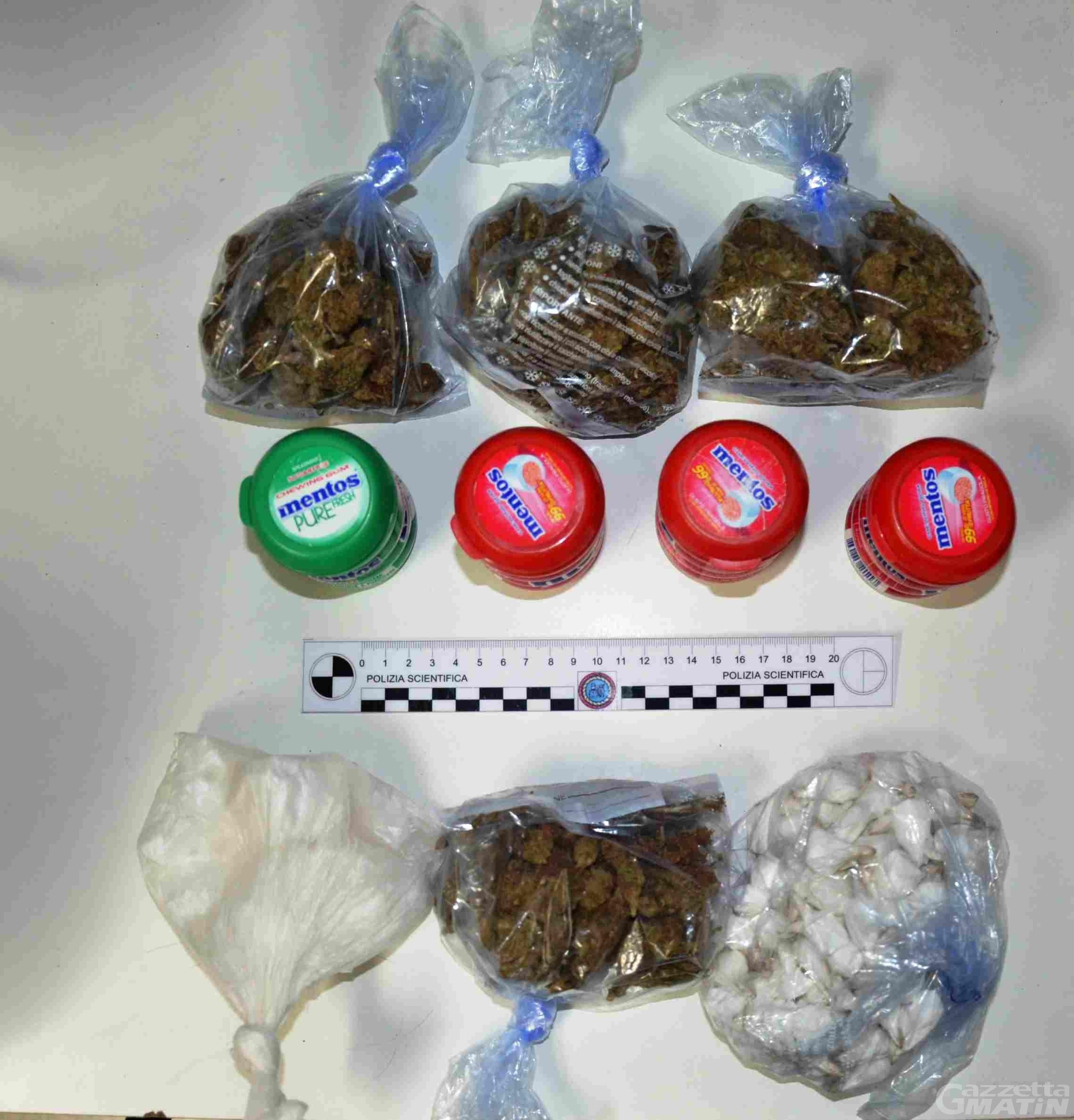 Droga: 'beccato' al buio, nella boscaglia, con 250 grammi di cocaina, arrestato