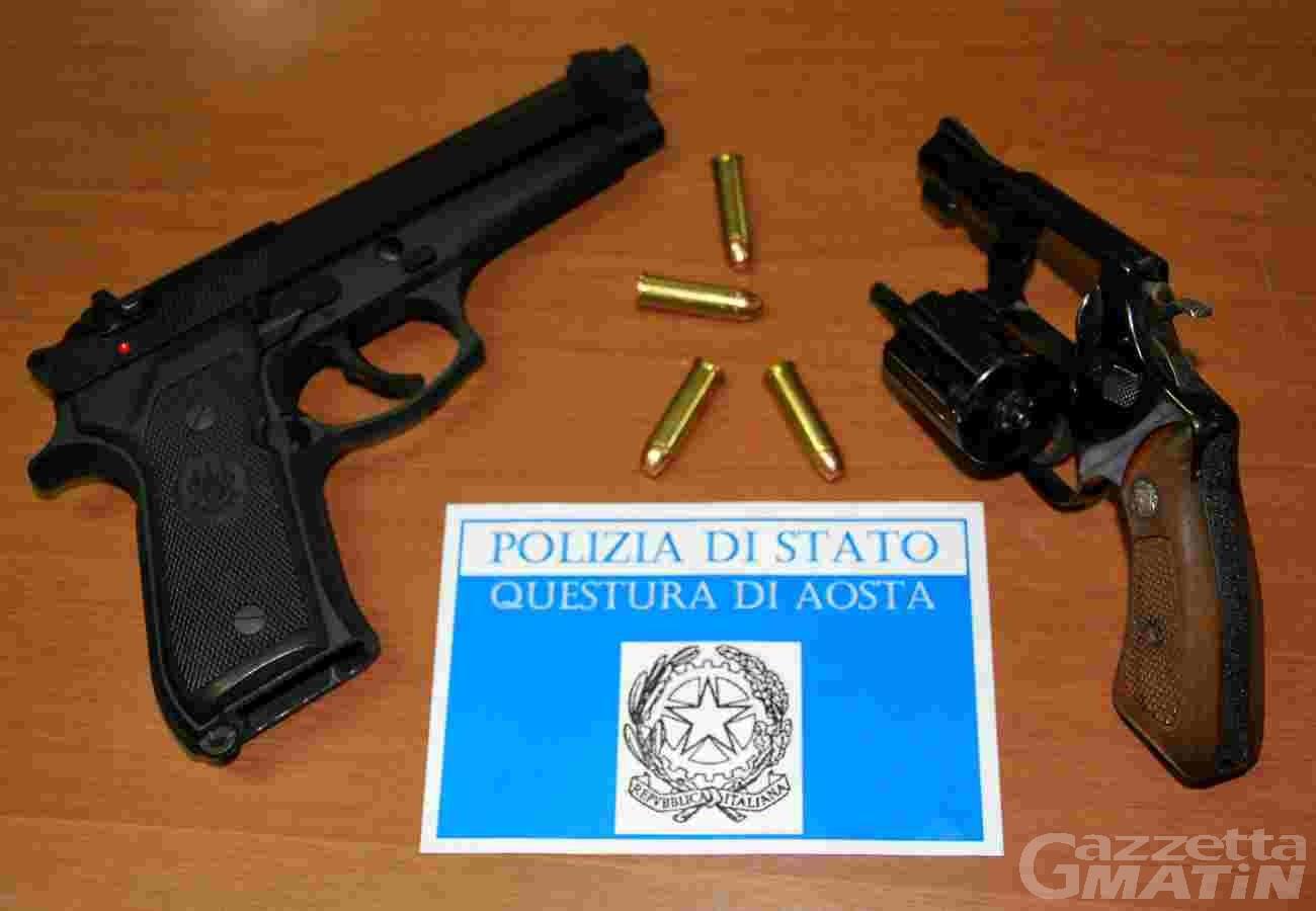 Detenzione illegittima di munizioni: denunciato aostano