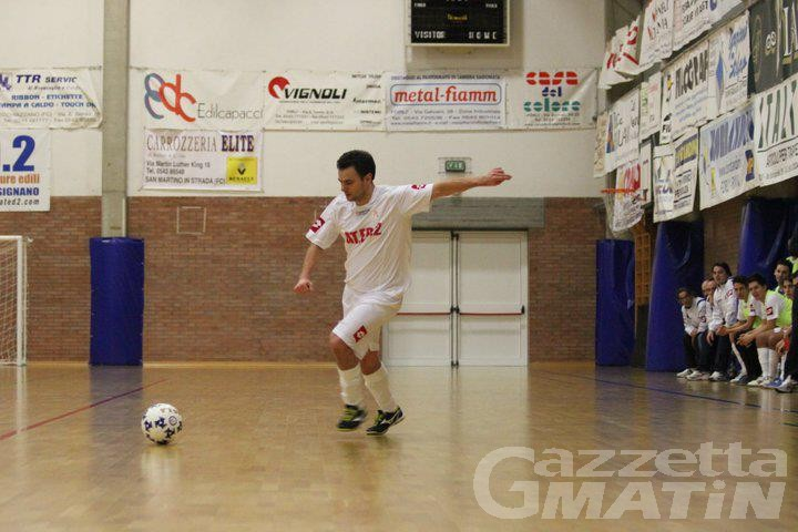 Calcio a 5: l'Aosta esce dalla Coppa Italia
