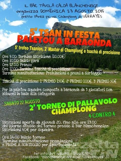 Tsan: il 23 a Verrayes il Trofeo Tsanlon