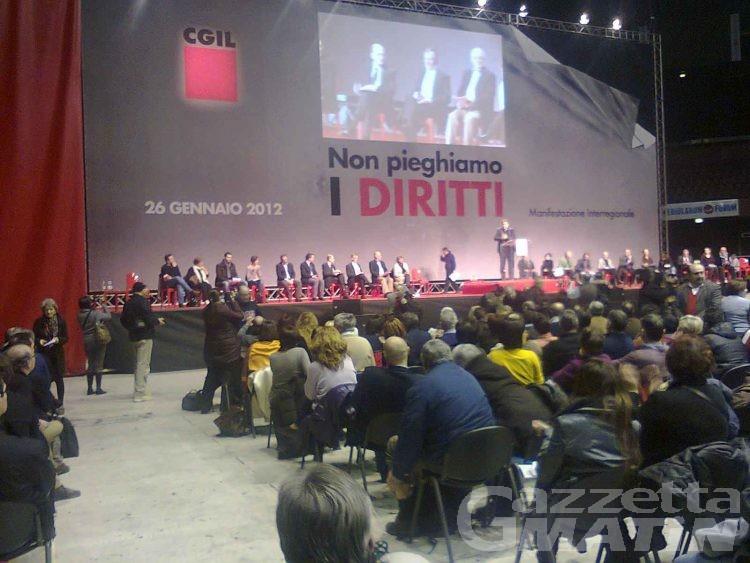 Anche la CGIL valdostana a Milano: «non pieghiamo i diritti»