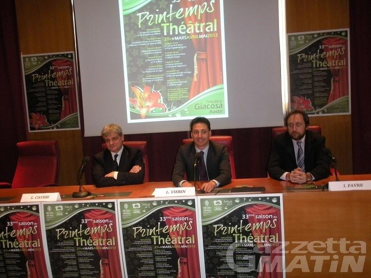 Debutta il 2 marzo la stagione di teatro popolare Printemps Théatral