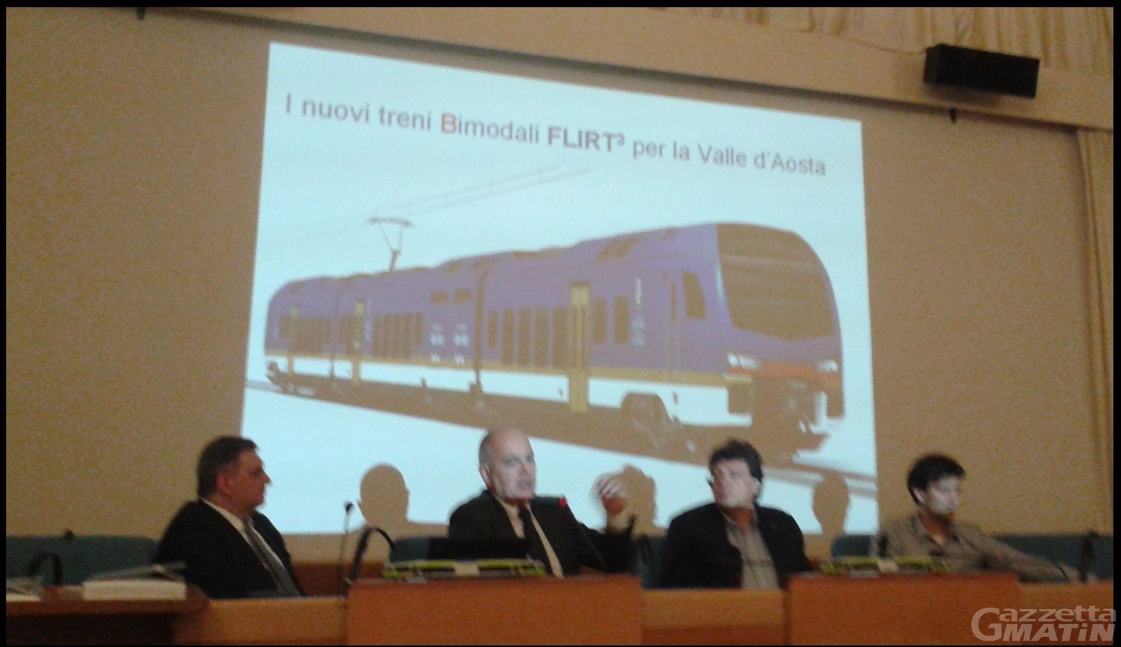 Trasporti: si chiama Flirt3 il nuovo treno bimodale per la Valle d'Aosta