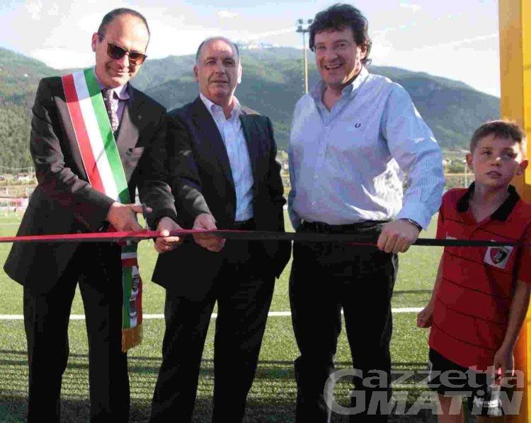 Gressan: inaugurato il nuovo impianto per il calcio