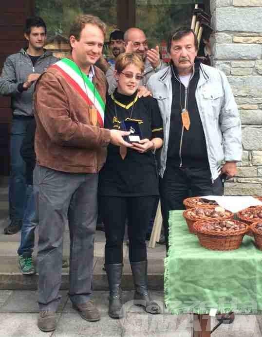 Lillianes: castagna d'oro a Katrine Squinabol