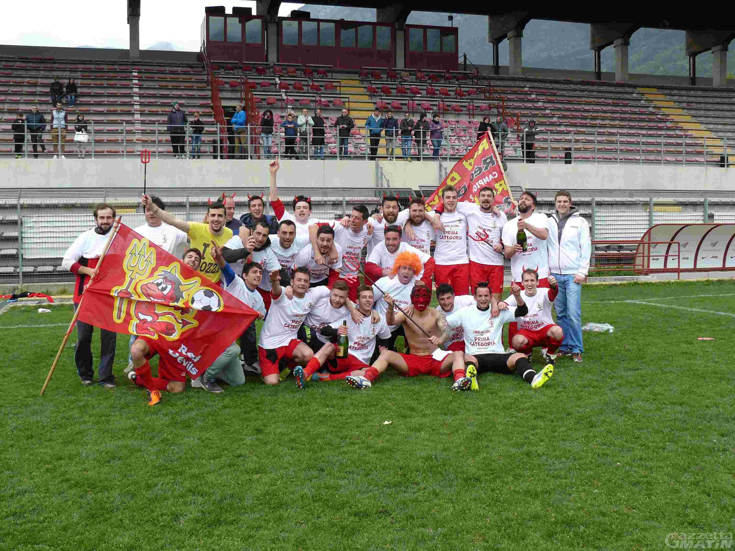 Calcio: fusione in bassa Valle, nascono i Red Devils Verrès