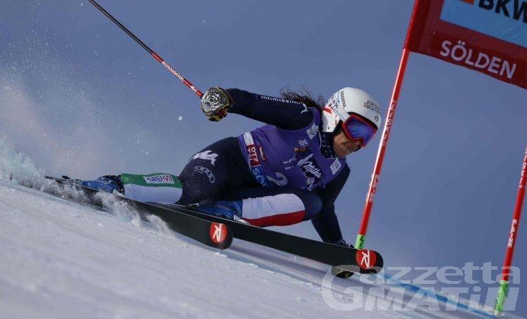Sci alpino: Federica Brignone quarta dopo la prima manche