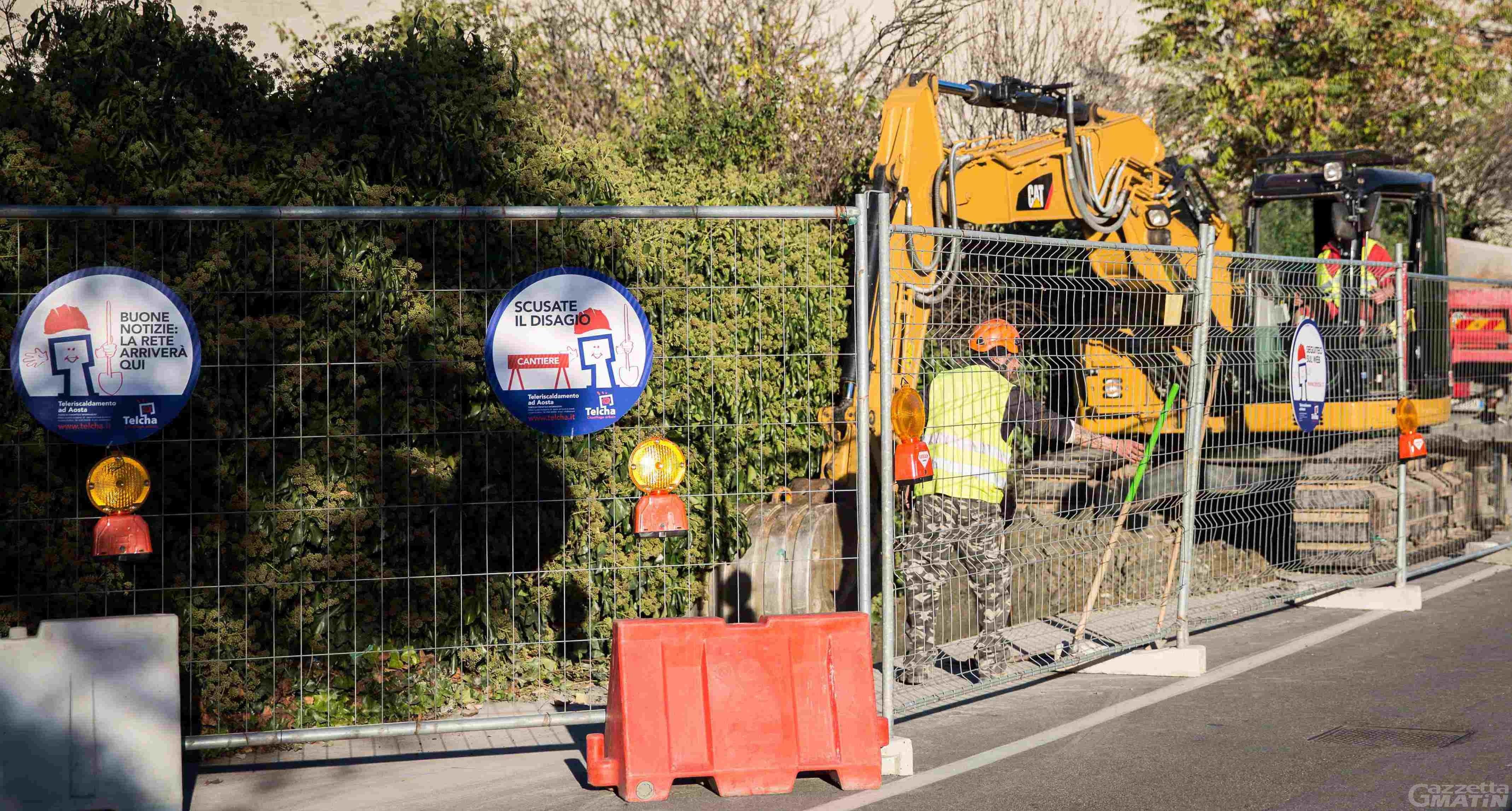 Teleriscaldamento: sono iniziati i lavori in tre zone di Aosta
