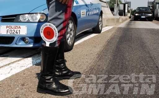 Polstrada Aosta: da gennaio, 1500 verbali per eccesso di velocità