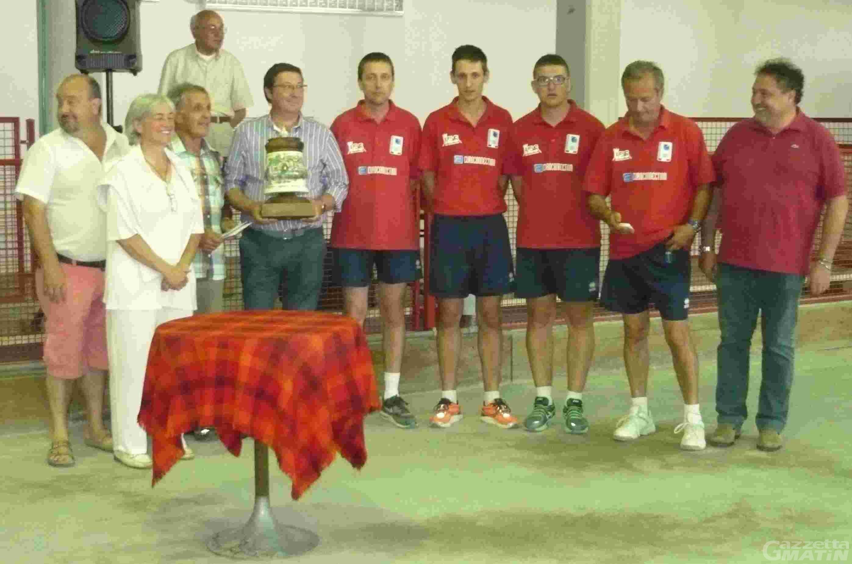 Bocce: la BRB Ivrea trionfa a St-Vincent