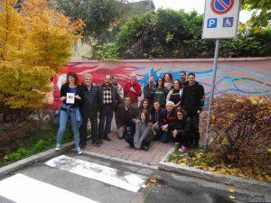 Inaugurazione murales via Pollio Salimbeni