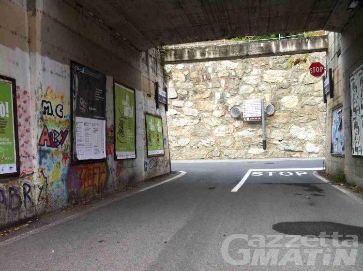 Sarre, viabilità alternativa su rue de la Doire