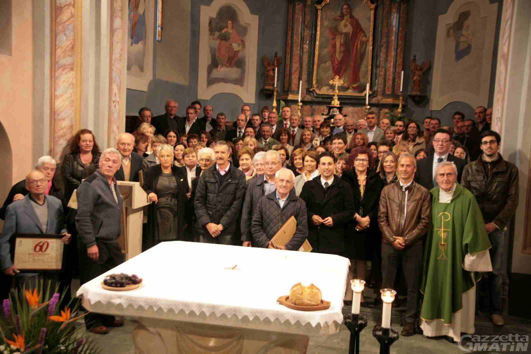 Ad Aymavilles la festa per i 60 anni delle Scholae cantorum
