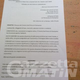 Ayas: petizione contro chiusura Cinema Sant'Anna
