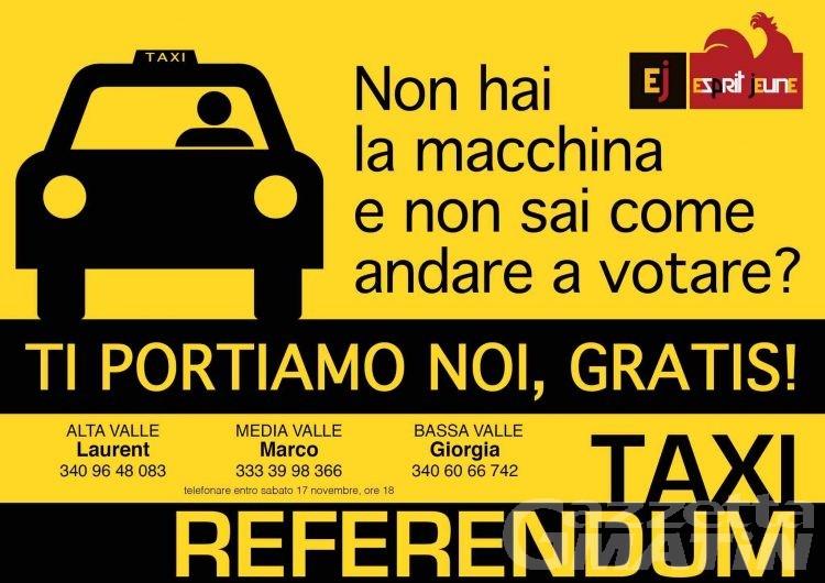 Taxi referendum: ti portiamo gratis a votare