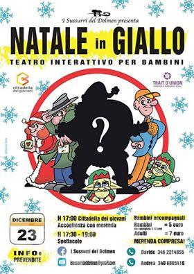 Teatro per bambini: Natale in Giallo ad Aosta