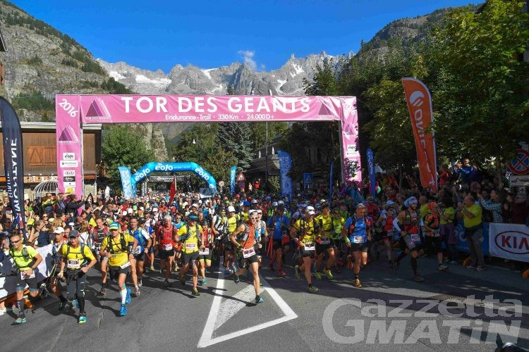 Tor des Géants: quarantadue i valdostani sorteggiati