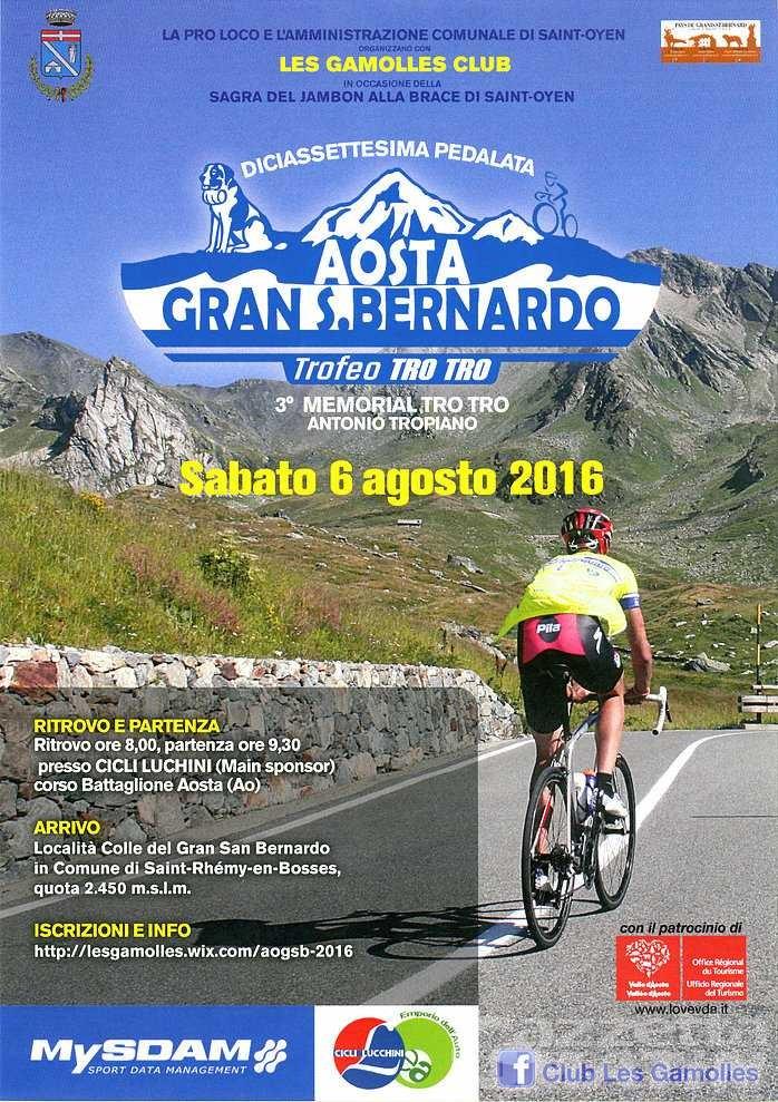 Ciclismo: torna l'Aosta-Gran San Bernardo