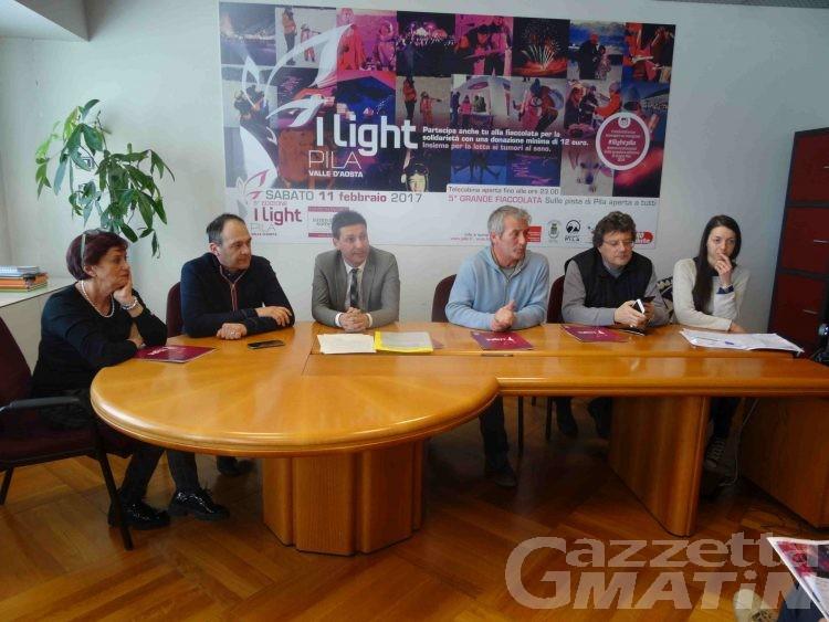 Solidarietà: I light Pila, fiaccolata rosa per lotta contro tumori