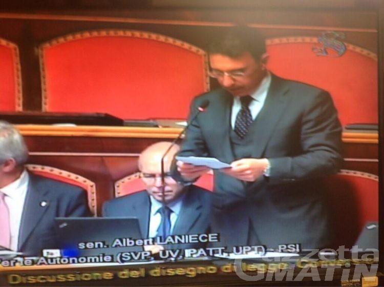 Senato: Lanièce, solidarietà al Kashmir a sostegno delle autonomie