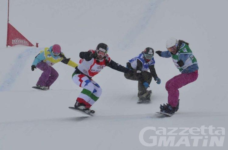 Snowboardcross e skicross al lavoro a Courmayeur