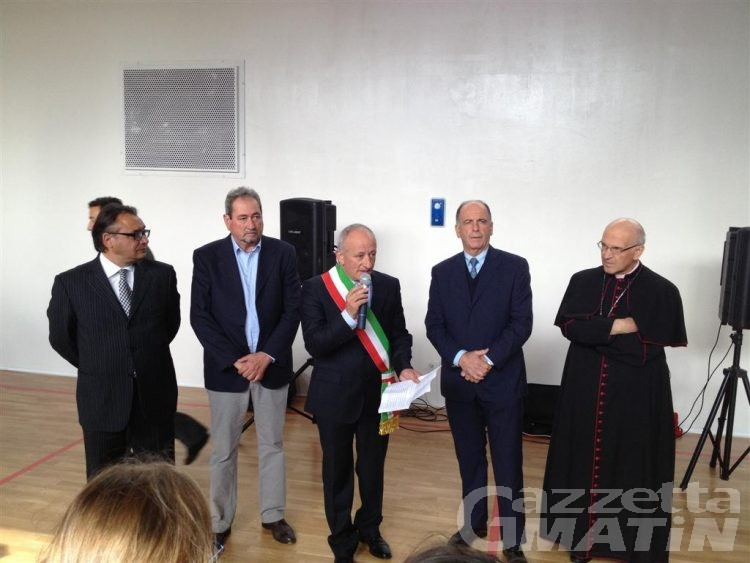 Inaugurata a San Menna di Lucoli l'area polivalente realizzata dalla Valle d'Aosta