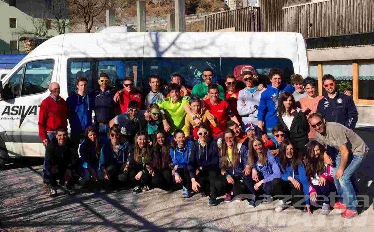 Biathlon: la squadra Asiva al lavoro a Brusson