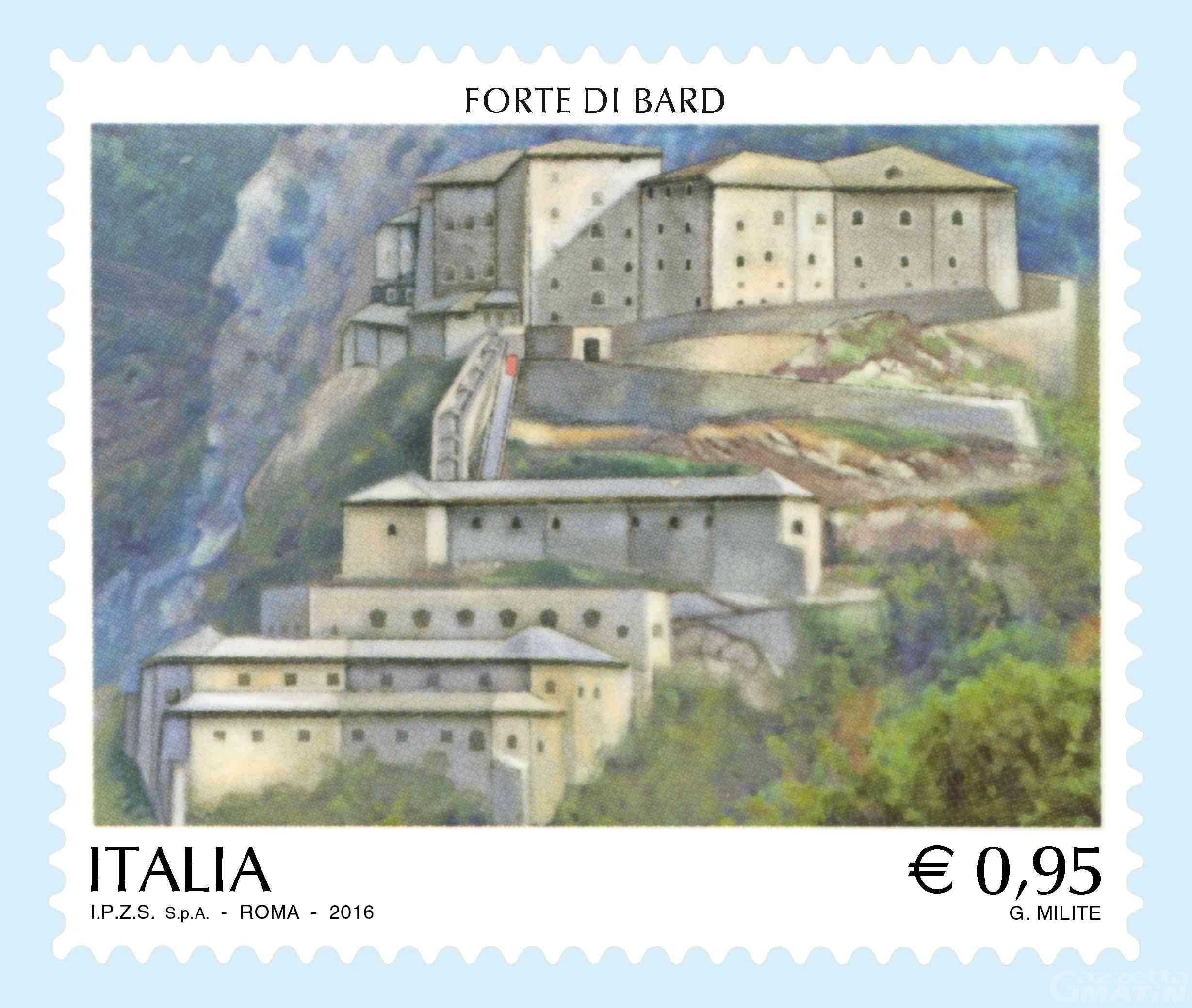 Poste: domani verrà emesso un francobollo sul Forte di Bard