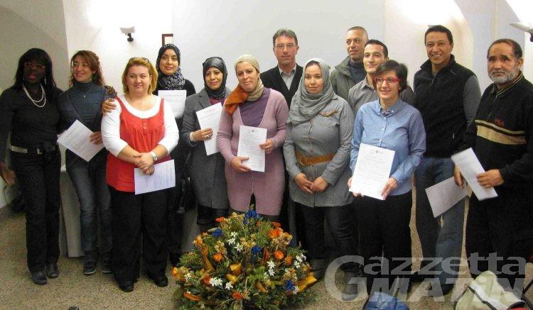 Certificati ai nuovi mediatori culturali