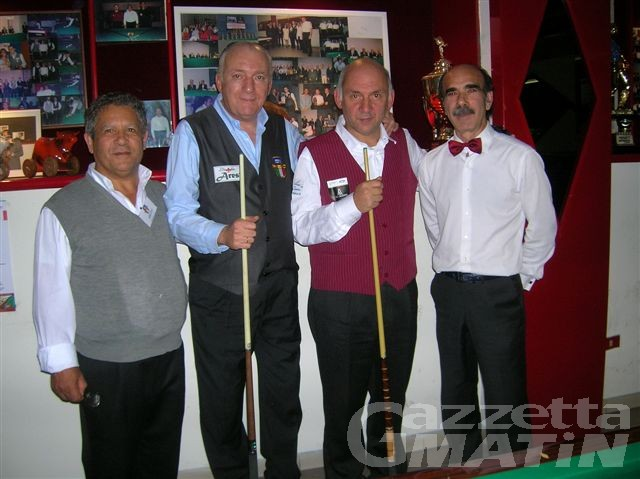Biliardo: a Berniga e Bagna il Trofeo Rouge et Noir