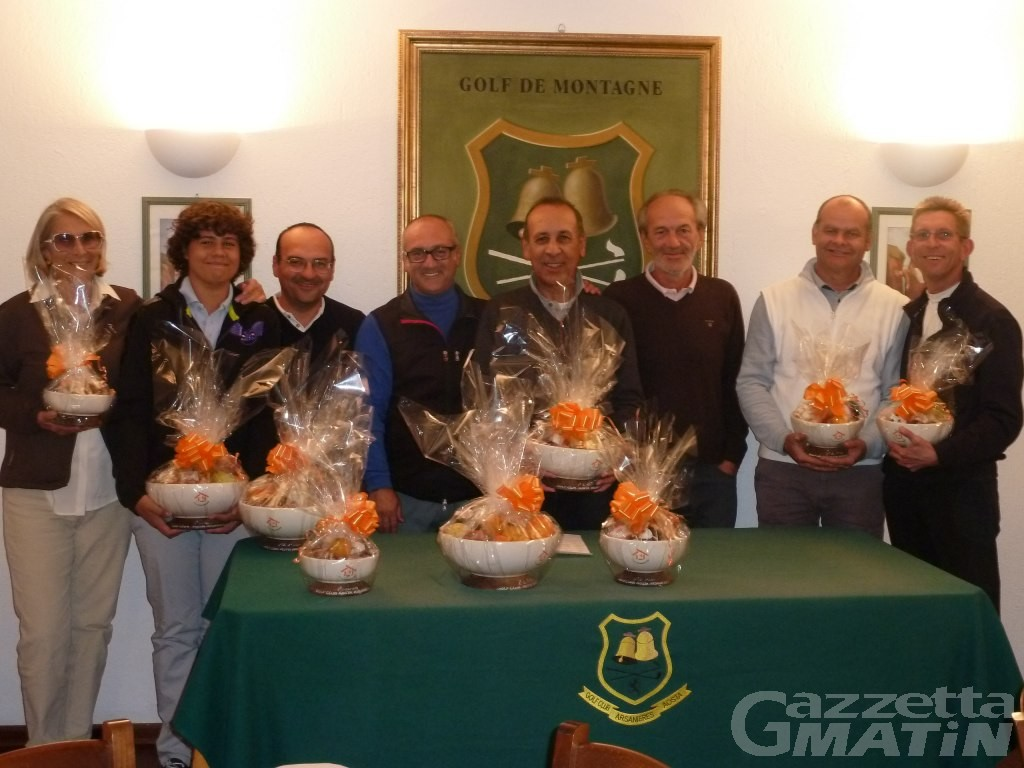Golf: il Trofeo Studio Courmayeur a Domenico Scopacasa